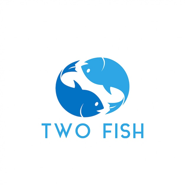 Two fish graphic design template vector illustration Premium Vector