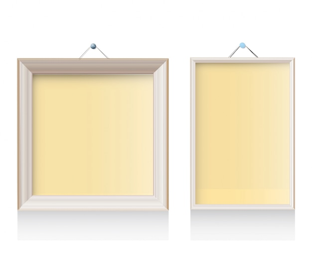 Two Frames On White Background Vector Free Download