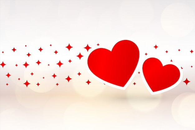 Two hearts beautiful background for valentines day Free Vector