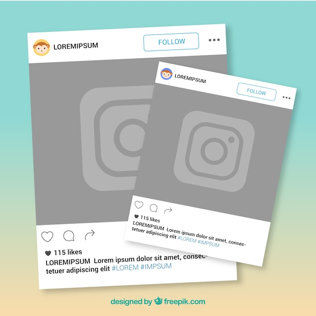 Two instagram frames