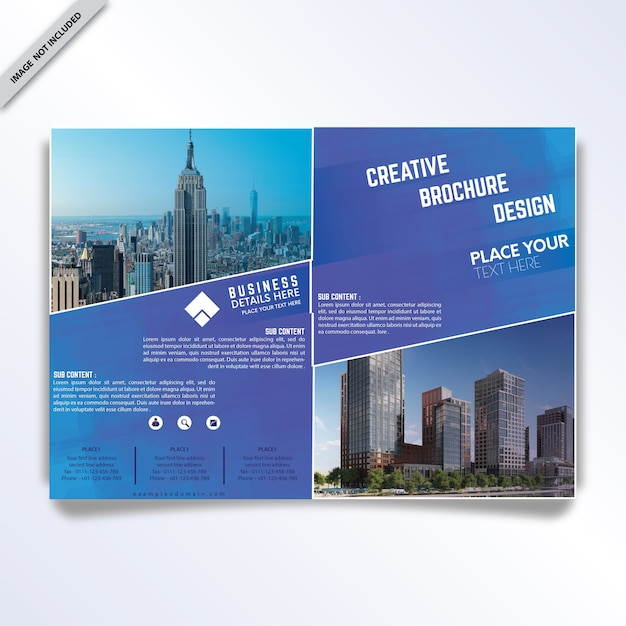 Two Page Brochure Template Vector Premium Download - Two page brochure template