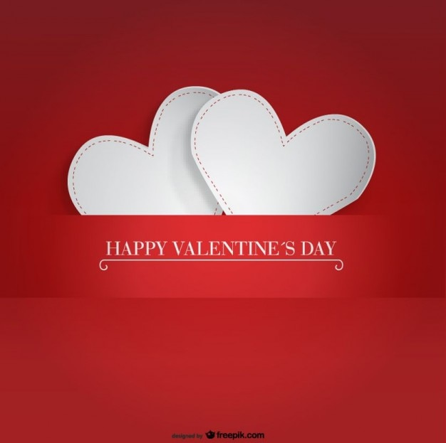 Two PaperHearts Design for Valentines Day Card Vector – Valentine Cards Designs