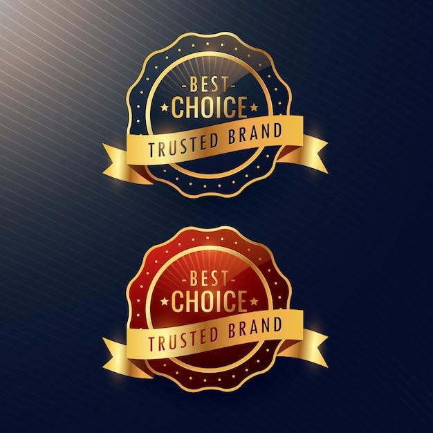 Two premium badges Free Vector