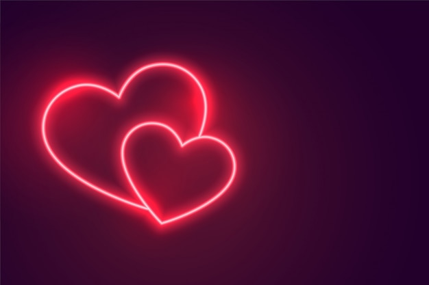 Two romantic hearts connected to each other Free Vector
