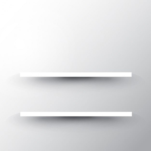 White Wall Shelves Part - 30: Two Shelves On A White Wall Background Free Vector