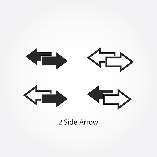 Two Side Arrow Left And Right Direction Vector Premium Download
