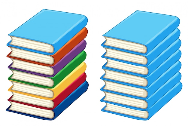 two stacks of thick books vector free download