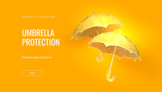 Два зонта. концепция баннера для карнавала или венецианского бала или фестиваля Premium векторы