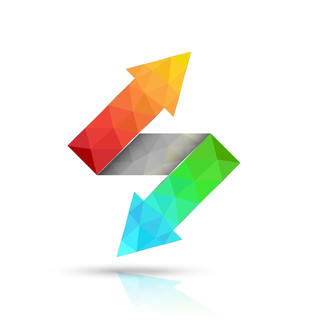 Two way arrows up and down Premium Vector