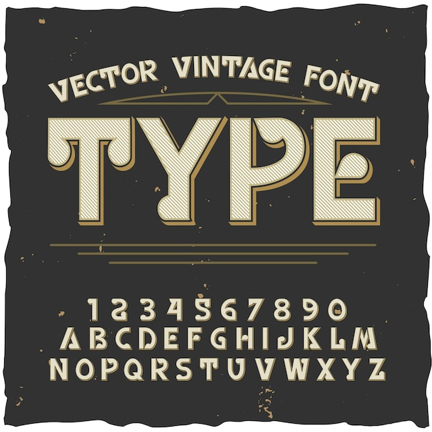 Type alphabet with vintage style Free Vector