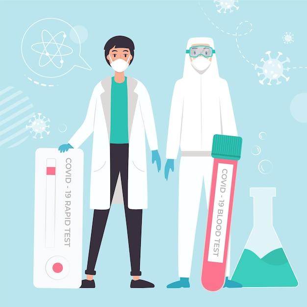 コロナウイルス検査の種類 無料ベクター