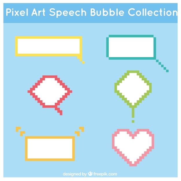 Types Of Pixelated Speech Bubbles