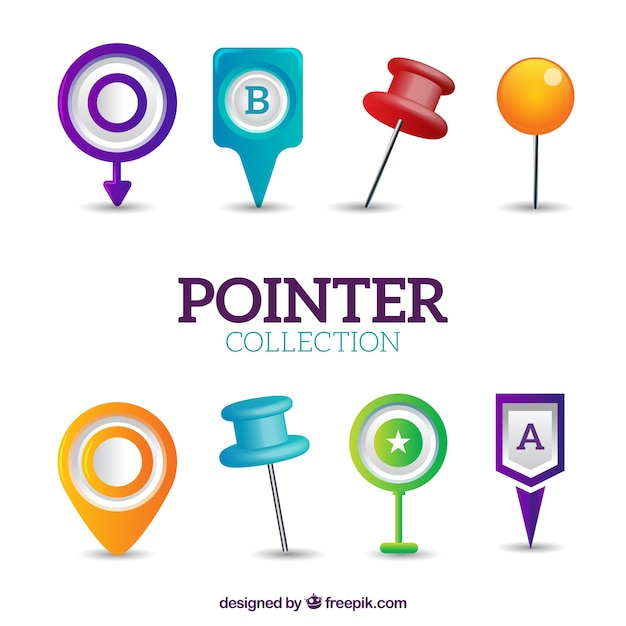 Types of pointers Free Vector
