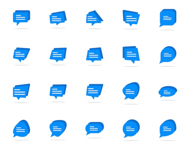 Typing in a chat bubble icon, comment sign symbol Premium Vector