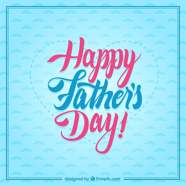 typographic happy fathers day card free vector