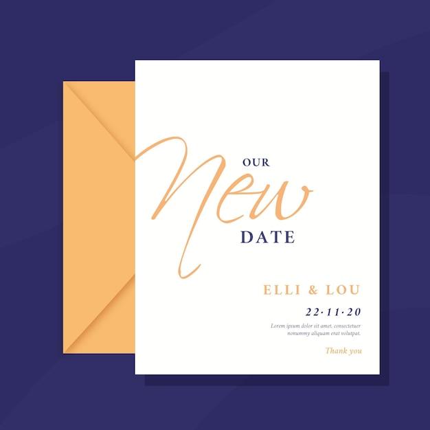 Типографская отложенная свадебная открытка Бесплатные векторы