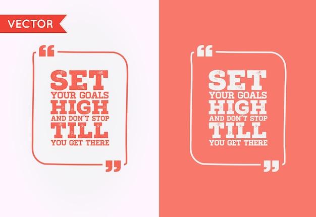 Typographic quote template bubble. template  quote set. trendy colors. Premium Vector