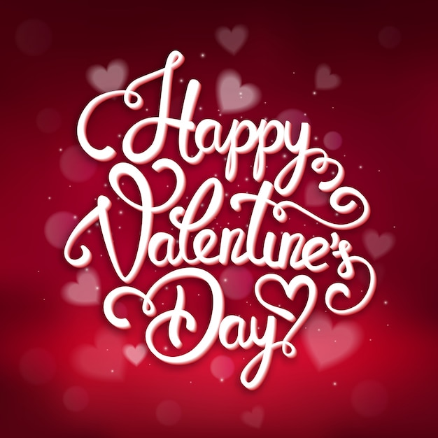 typographic valentines day greeting card template vector
