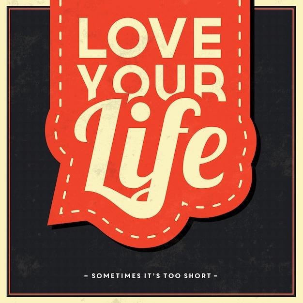 Typographic vintage background