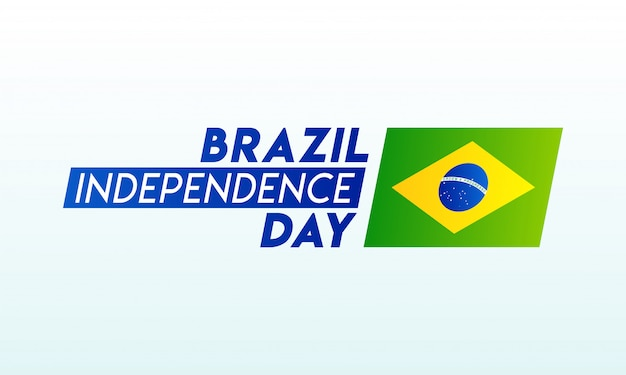 Typography of brazil independence day Premium Vector