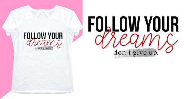 Типографский дизайн для футболки с принтом и не только Premium векторы