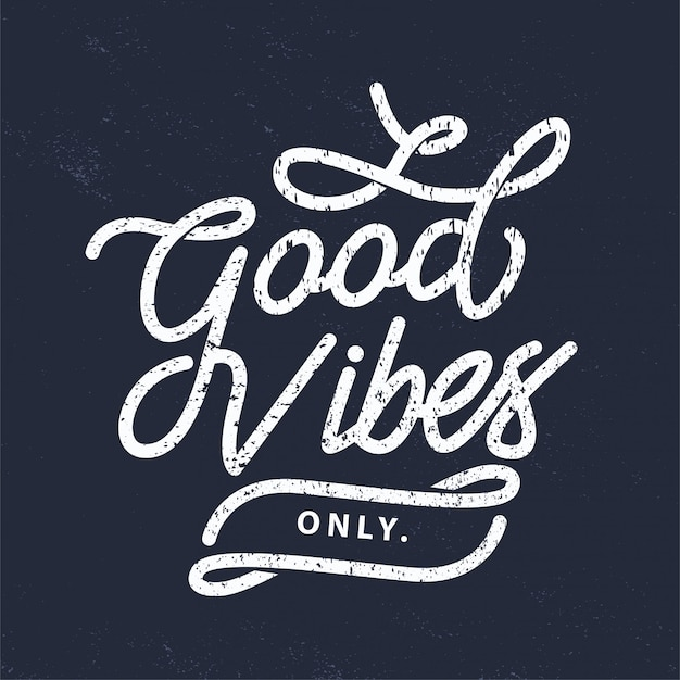 Typography good vibes only Premium Vector