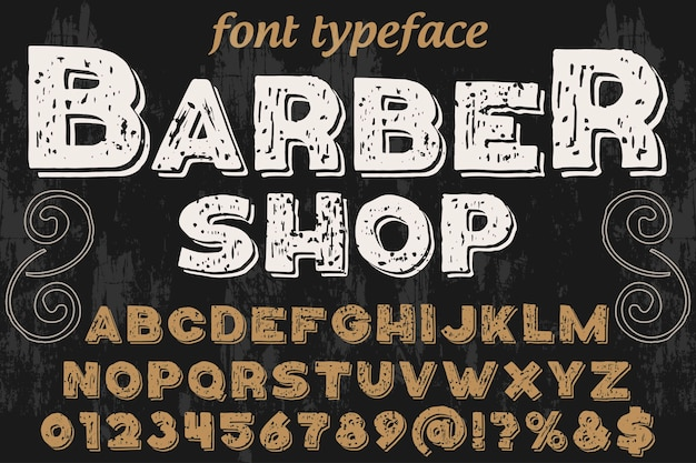 Typography graphic style barber shop Premium Vector