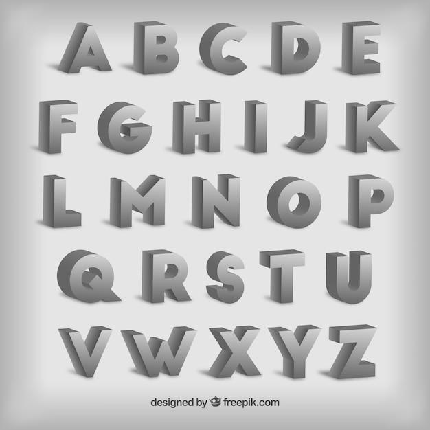 Typography in 3d style Premium Vector