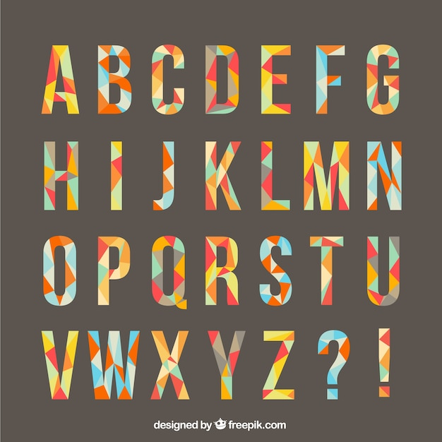 Typography made of polygons Free Vector