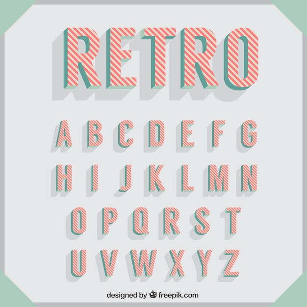 Typography in retro style Free Vector