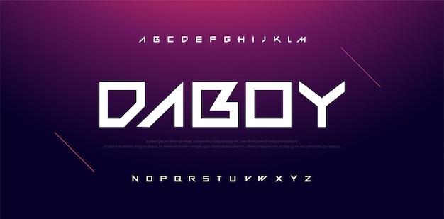 Typography sport modern technology alphabet font Premium Vector