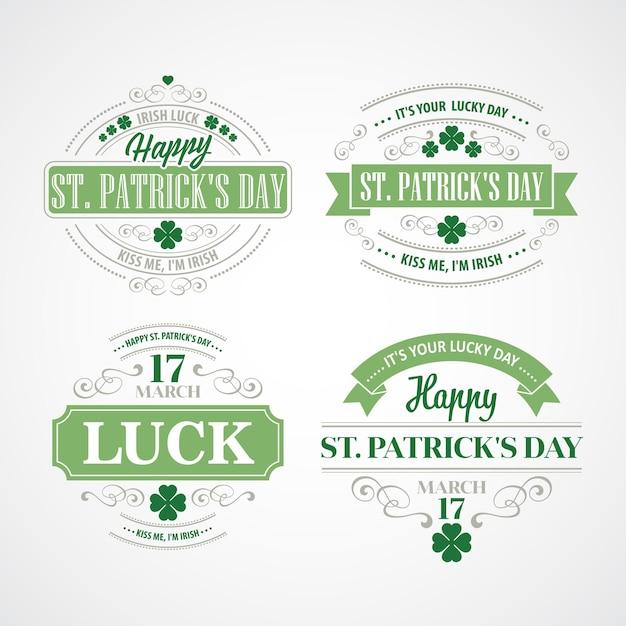 Typography st. patricks day.  illustration Premium Vector