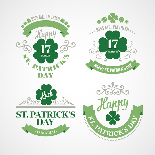 Typography st. patricks day.  illustration Premium Vector