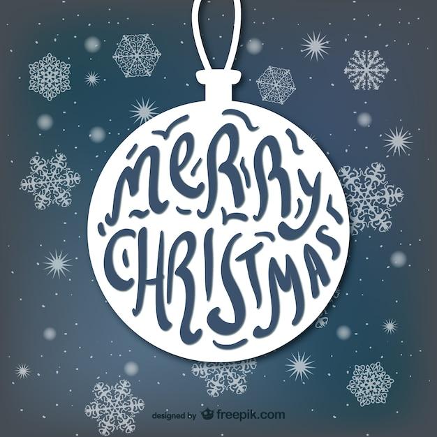 Typography with Christmas ball shape