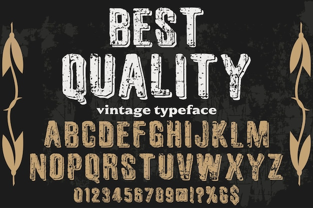 Typography with the word best quality Premium Vector