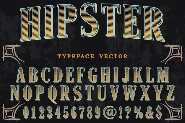 Typography with the word hipster Premium Vector