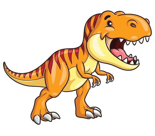 Tyrannosaurus rex cartoon Premium Vector