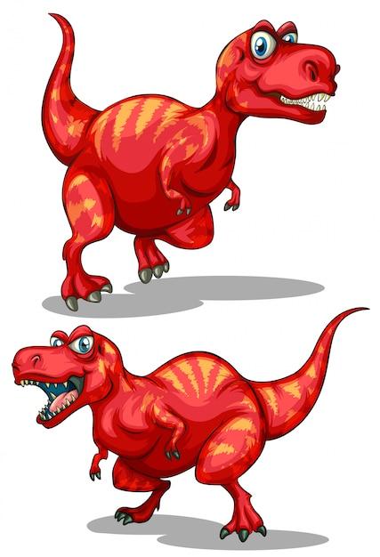 Tyrannosaurus rex con denti affilati Vettore gratuito