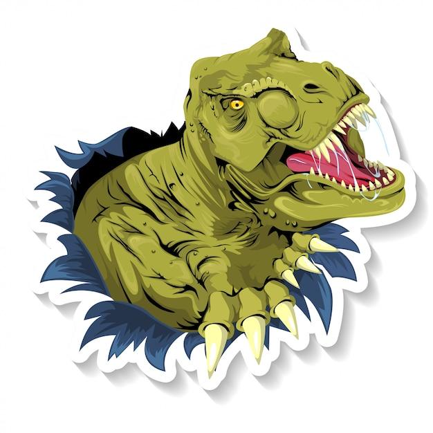 Tyrannosaurus t rex ripping Premium Vector