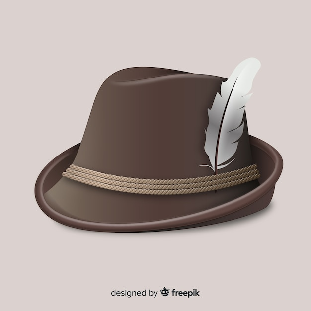 Tyrolean hat background Free Vector