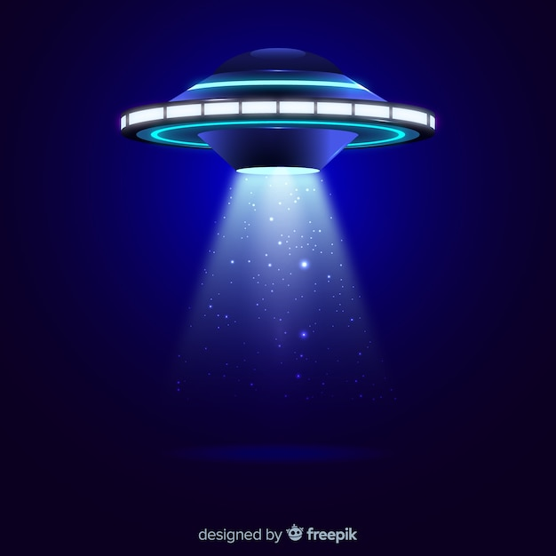 Ufo abduction concept with realistic design Free Vector