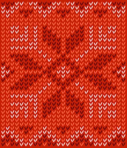 Ugly sweater merry christmas and happy new year greeting card template. pattern with scand Premium Vector