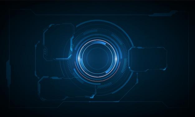Ui hud screen tech system innovation background Premium Vector
