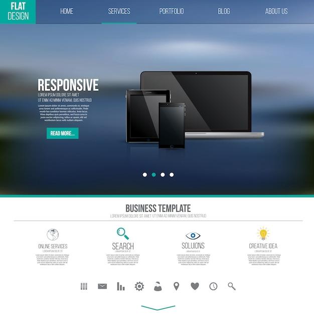 Шаблон пользовательского интерфейса с иконками Premium векторы