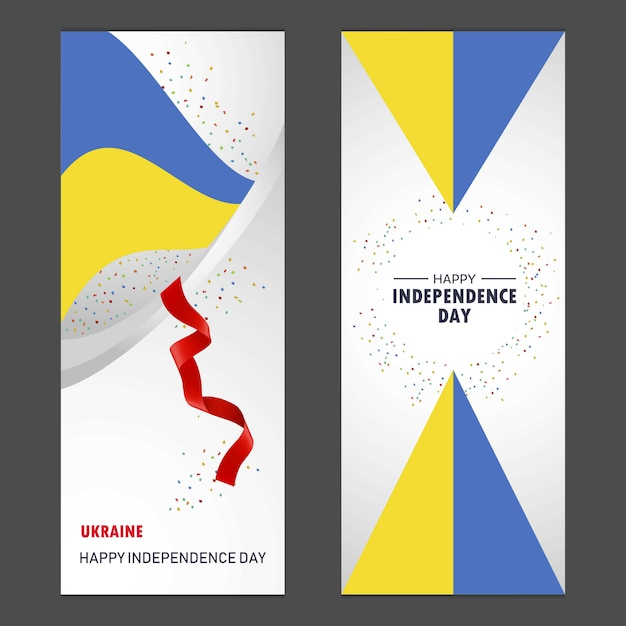 Ukraine happy independence day Free Vector