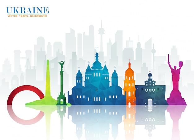 Справочный документ украина ориентир глобальных путешествий и путешествий Premium векторы