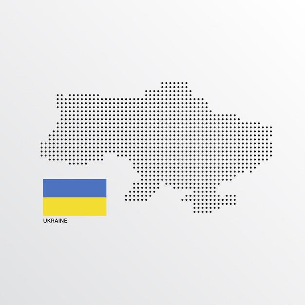 Украина дизайн карты с флагом и фона фона Бесплатные векторы