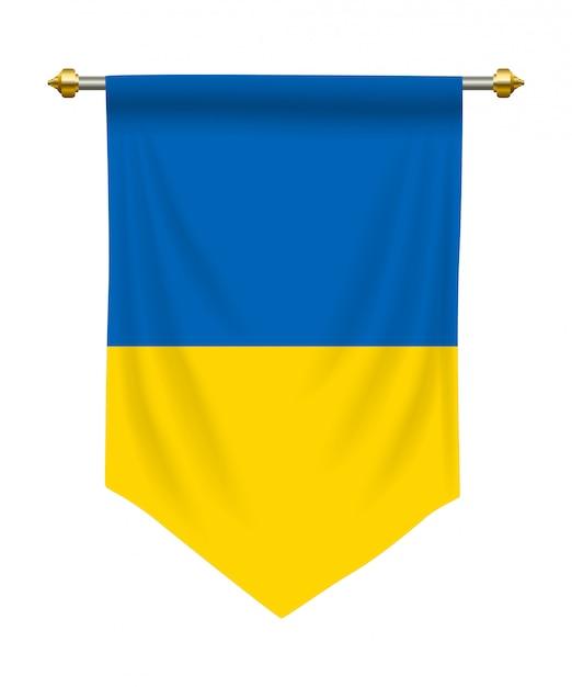 Ukraine pennant Premium Vector