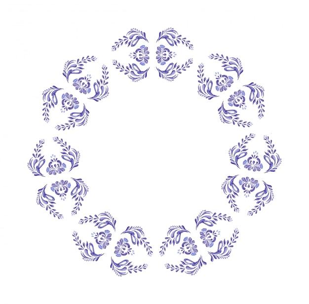 Ukrainian blue wreath. Premium Vector