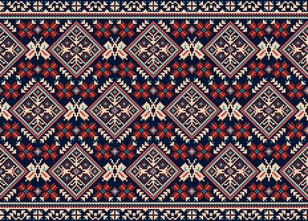 Ukrainian folk seamless pattern ornament Free Vector